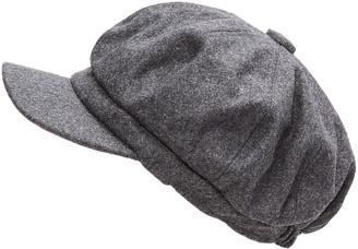 Jeanne Simmons Accessories Women's Winter Hats Grey - Gray Wool-Blend Newsboy Cap