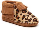 Minnetonka Girls Riley Infant & Toddler Leopard Boot -Leopard/Tan