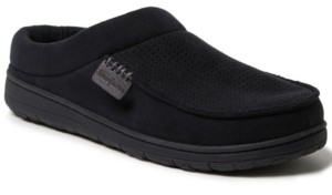 Dearfoams Men's Moc Toe Clog Slippers Men's Shoes