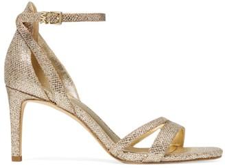 MICHAEL Michael Kors Kimberly Metallic Embossed Sandals