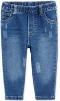 First Impressions Distressed Pull-On Jeans, Baby Boys (0-24 months), Created for Macy's