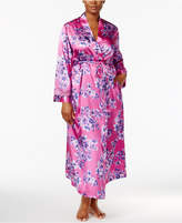 Thalia Sodi Plus Size Floral-Print Wrap Robe, Created for Macy's