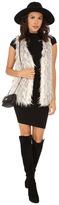 Kensie Spotted Fur Vest KS0K2160