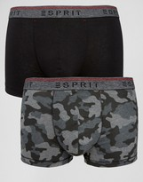 Esprit Trunks 2 Pack In Camo