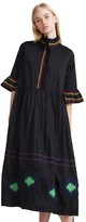Cynthia Rowley Polished Cotton Embroidered Maxi Dress