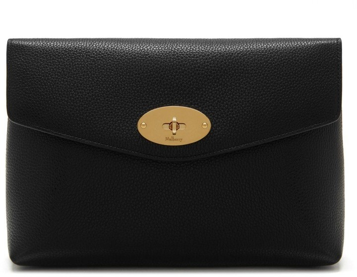 Mulberry Large Darley Cosmetic Pouch Black Small Classic Grain