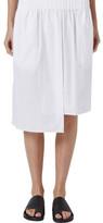 Bassike Cotton Asymmetric Elastic Waist Skirt