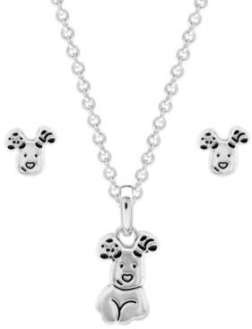 Rhona Sutton Snowdog Pendant Necklace and Earring Set