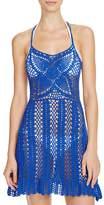 MinkPink Color Me Crochet Dress Swim Cover-Up