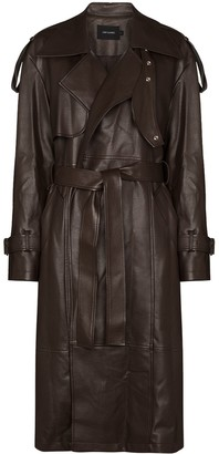 Low Classic Leather Trench Coat