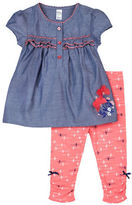 Petit Lem Baby Girls Funky Top and Legging Set