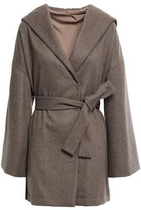 Brunello Cucinelli Belted Bead-embellished Cashmere Hooded Coat
