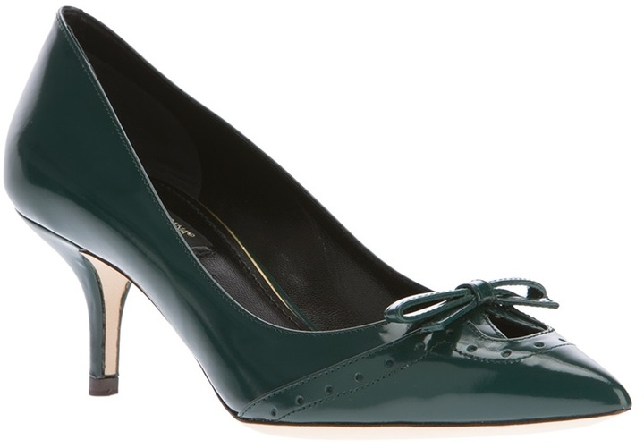 Dolce & Gabbana bow detail pump