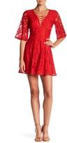 Minuet Lace Up Mini Dress
