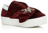No.21 No. 21 Knot Embellished Platform Slip On Sneakers