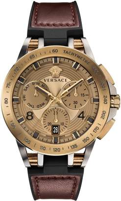 Versace Tech Chrono Stainless Steel Rubber-Strap Watch