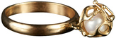 Bijules Locket Akoya Cultured Pearl Ring