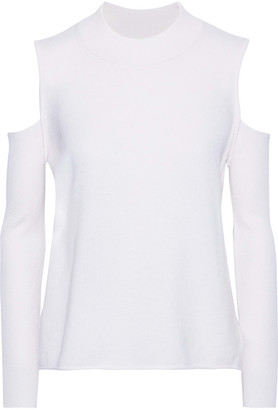 Mason by Michelle Mason Cold-shoulder Wool And Cashmere-blend Top