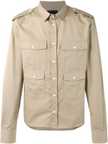 Diesel Black Gold pocketed shirt jacket - men - Cotton - 46