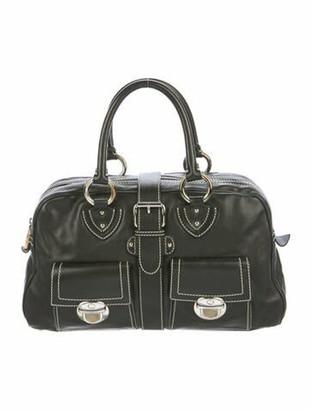 Marc Jacobs Leather Venetia Handle Bag Black