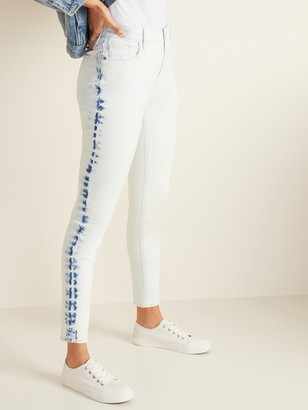 Old Navy High-Waisted Dip-Dye Rockstar Super Skinny Jeans for Women
