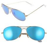 Ray-Ban Men's 59Mm Aviator Sunglasses - Matte Gold/ Blue Mirror