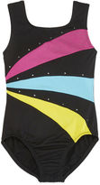 Jacques Moret Jacques Mort Sleeveless Rainbow Stars Solid Leotard - Girls