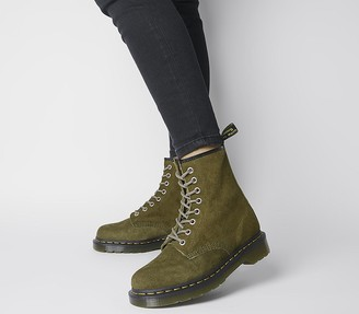 Dr. Martens 8 Eyelet Lace Up Boots Grenade Green
