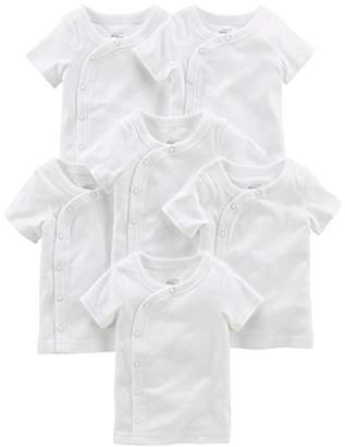 Carter's Simple Joys by Baby 6-Pack Side-Snap Short-Sleeve Shirt