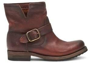 Frye Veronica Bootie Redwood Leather Moto Boots