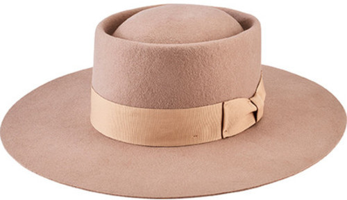 San Diego Hat Company Women's Wide Flat Brim Boater with Grosgrain Bow WFH8041