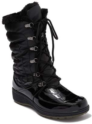 Aquatherm By Santana Canada Courtmid Quilted Faux Fur Lined Lace Up Winter Boot