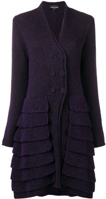 Giorgio Armani Pre-Owned 1990's layered cardi-coat