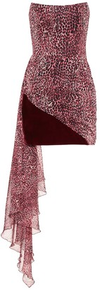 Rasario Leopard-print chiffon minidress