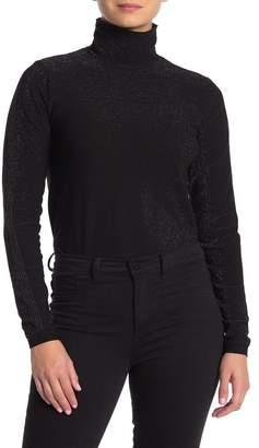 Wolford Metallic Knit Turtleneck Bodysuit