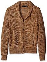 Nautica Men's Mixed Knit Shawl Collar Cardigan