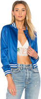 Lovers + Friends x REVOLVE Lovers Bomber in Blue. - size L (also in M,S,XS)