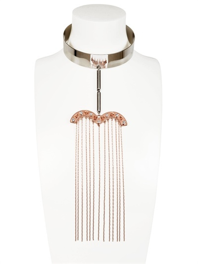 Maria Francesca Pepe Choker Necklace With Chains