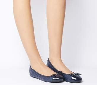 Butterfly Twists Quilted Olivia 2 Flats Navy