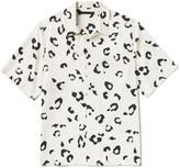 Alexander Wang Oversized Leopard-print Silk Shirt