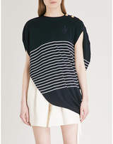 J.W.Anderson Circular striped wool top