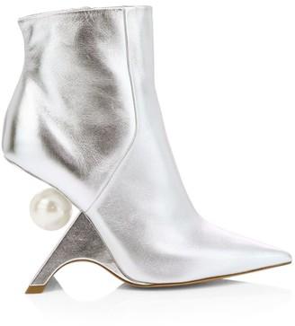 Nicholas Kirkwood Jazzelle Faux Pearl Metallic Leather Ankle Boots