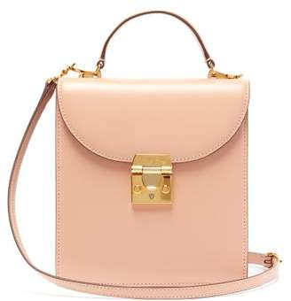 Mark Cross Uptown Leather Box Bag - Womens - Beige