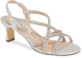 Nina Noni Crystal Embellished Slingback Sandal