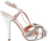 Aruna Seth Silver Leather Heels