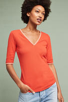 Anthropologie Brea V-Neck Ringer Tee