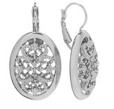 1928 Filigree Oval Drop Earrings