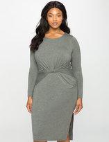 ELOQUII Plus Size Twist Detail Jersey Dress