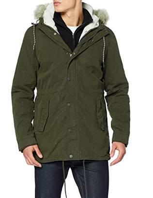Tommy Hilfiger Men's TJM Cotton Lined Parka Jacket,Large