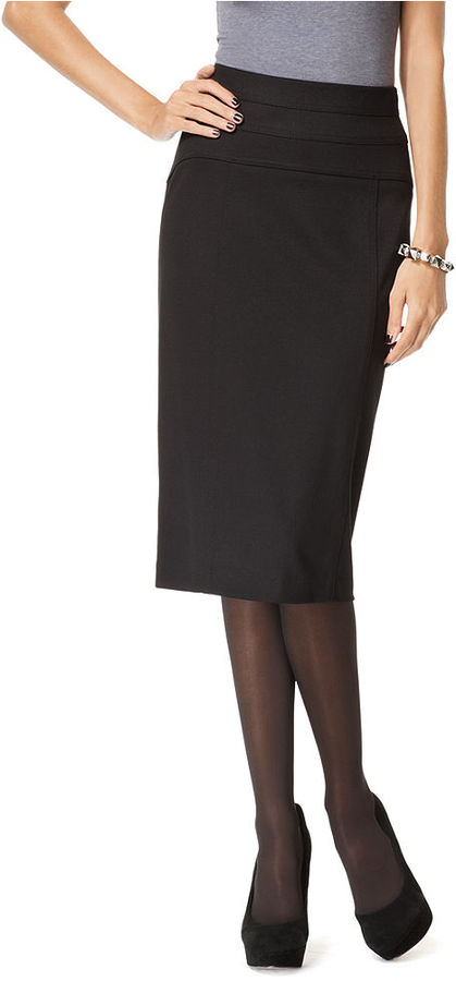 INC International Concepts Skirt, Seamed Waist Pencil